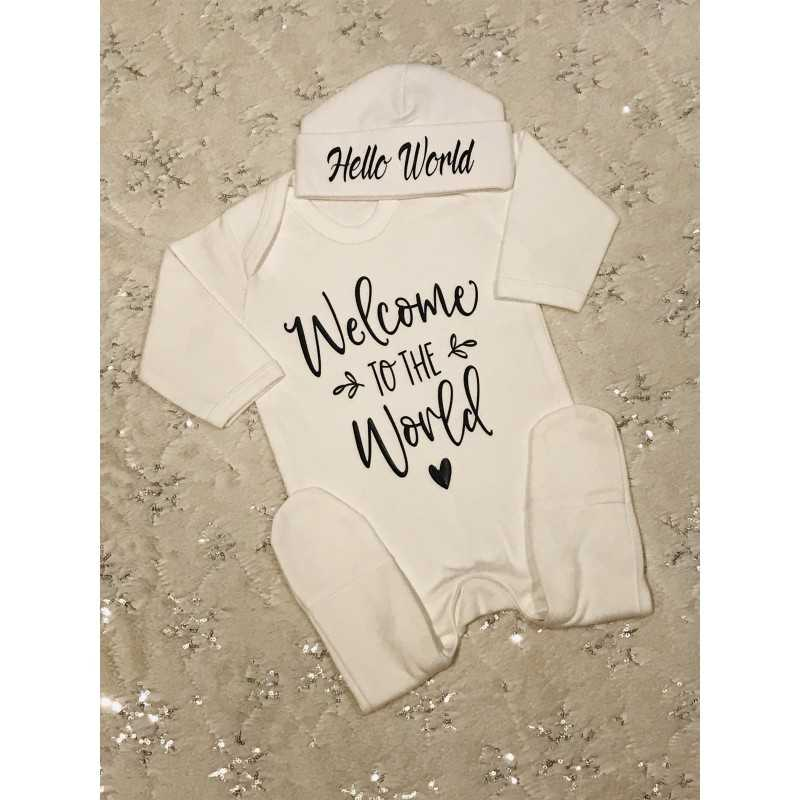 Baby grow and hat set