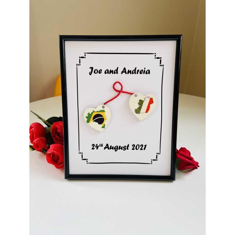 Personalised engagement/wedding frame